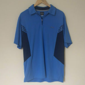 Greg Norman 2xl Polo 100% Polyester Made In Vietnam Maroon And White Striped Men's Clothing